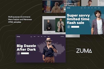 Zuma - eCommerce Men Fashion HTML Template