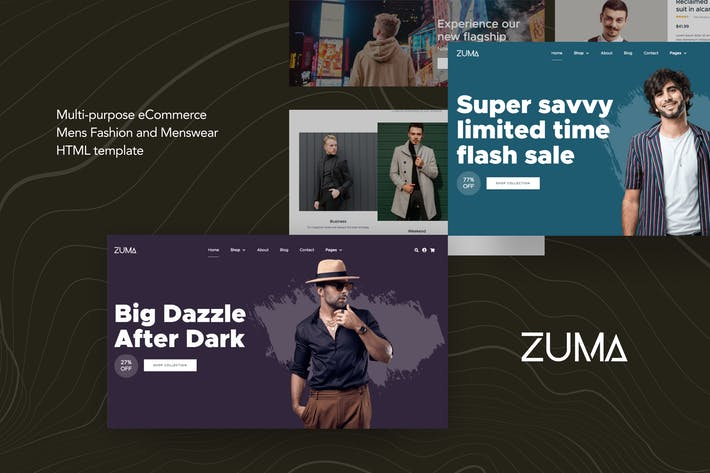 Cover Image For Zuma - eCommerce Men Fashion HTML Template