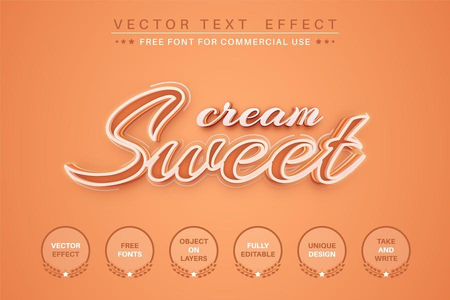 Sweet script - editable text effect, font style