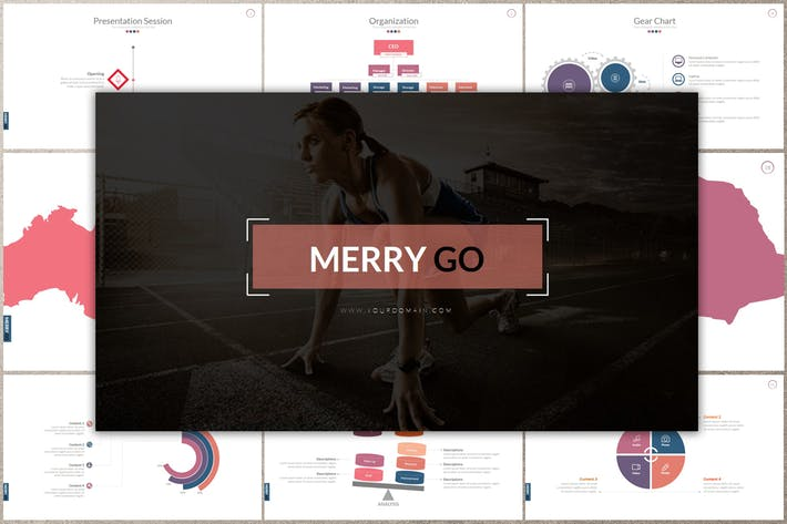 Thumbnail for MERRY GO Google Slides