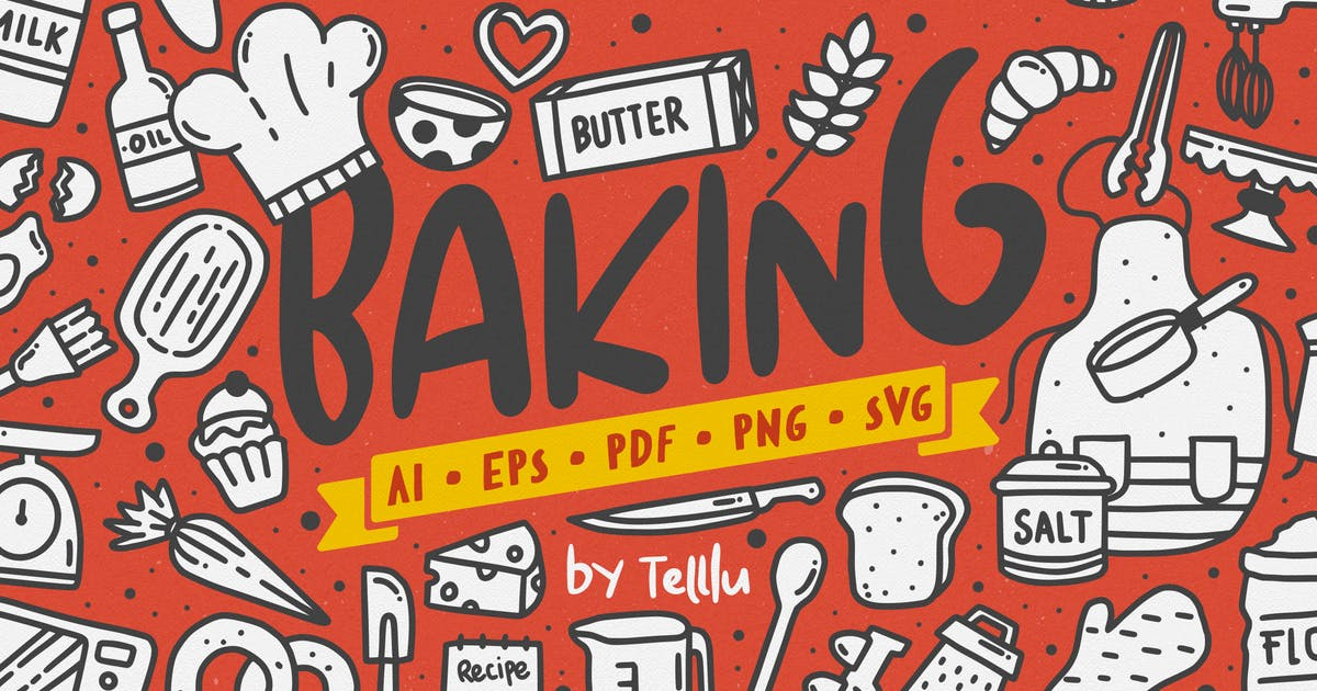 Download Baking Doodle Vector Clipart by telllu