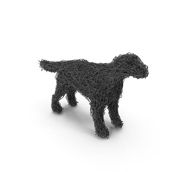 Thumbnail for Escultura de alambre perro