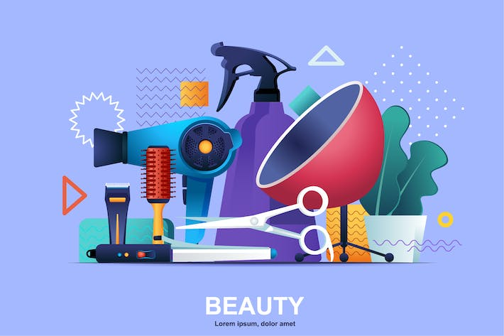 Thumbnail for Beauty Industry Flat Concept Vector Illustration