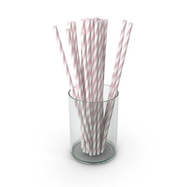 Розовые Питьевые соломинки