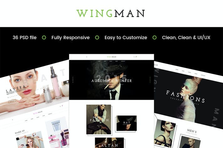 Thumbnail for WINGMAN - E-Commerce and Blog PSD Theme