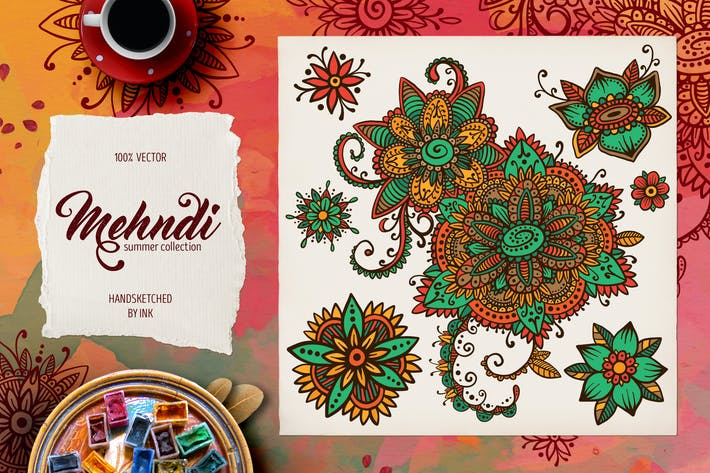 Thumbnail for Mehndi Summer Collection 01