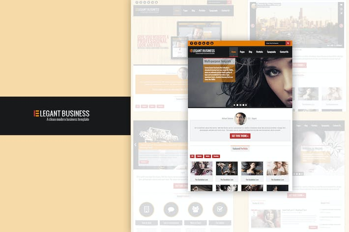 Thumbnail for Elegant Business - Responsive HTML