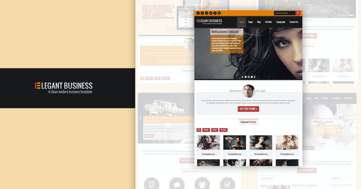 Download Elegant Business - Responsive HTML by designthemes