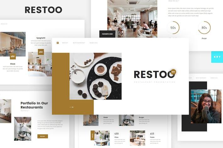 Шаблон Keynote ресторана и кафе