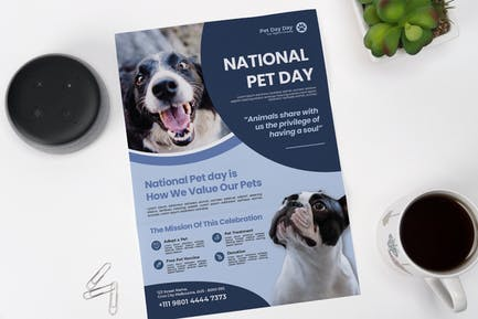 Simple National Pet Day Flyer