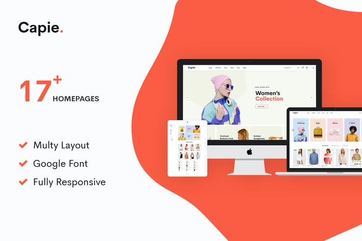 Thumbnail for Capie | Minimalist eCommerce PSD Template