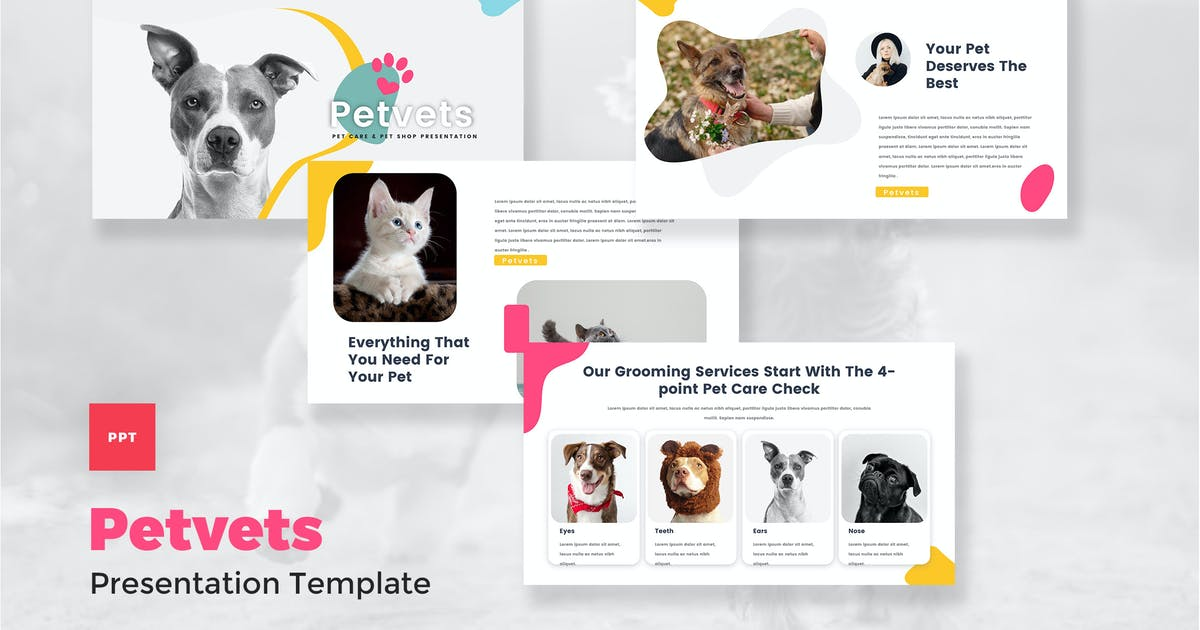 Download Pet Care & Pet Shop PowerPoint Template by StringLabs
