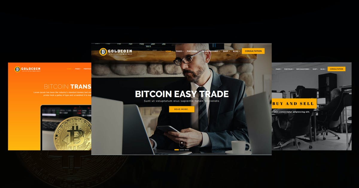 Download GoldCoin - Bitcoin Cryptocurrency HTML Template by shtheme