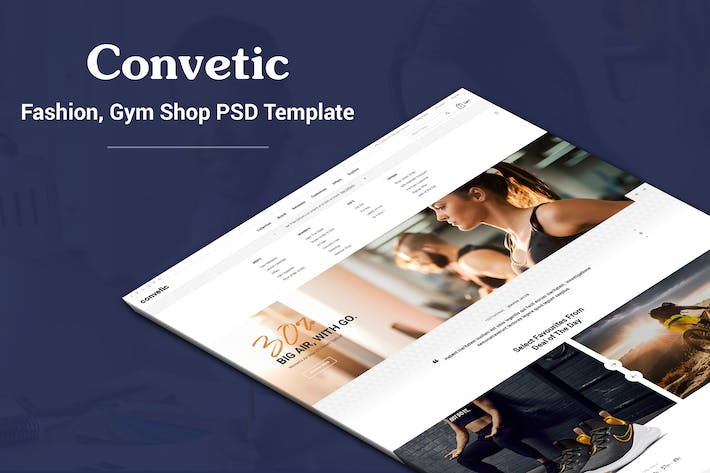 Thumbnail for Convetic - Sport, Gym PSD Template