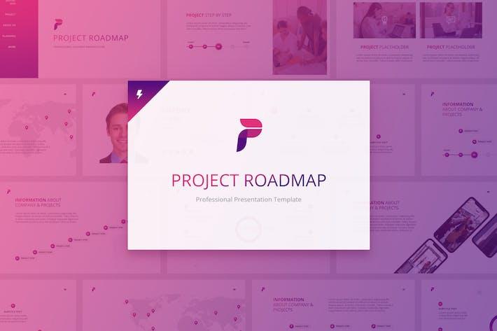 Thumbnail for Project Roadmap for Google slides