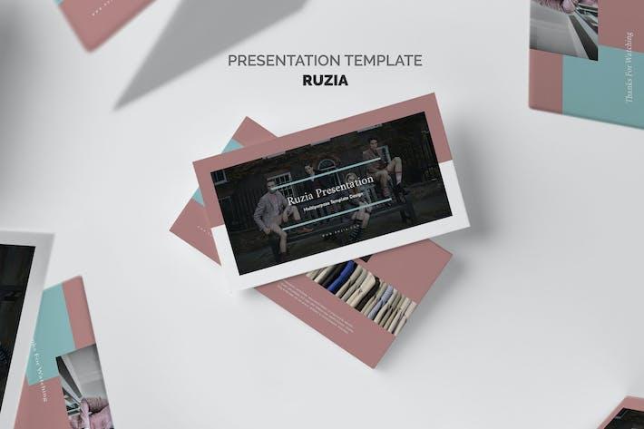 Thumbnail for Ruzia : Luxury Fashion Powerpoint