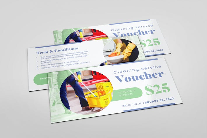 Thumbnail for Cleaning Service AI and PSD Gift Voucher Template