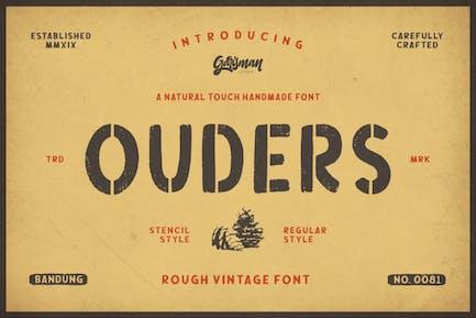 Ouders   Vintage Stencil Typeface