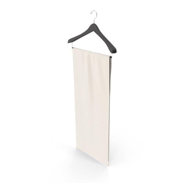 Stoff auf Kleiderbügel