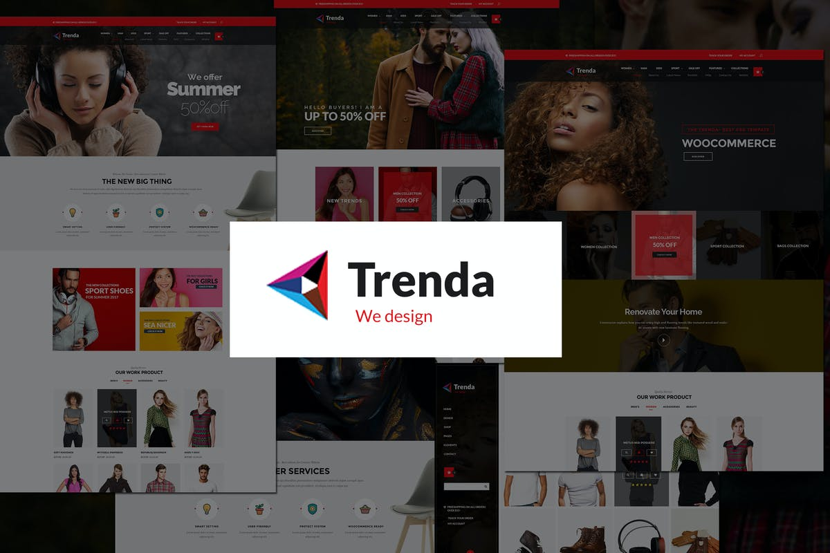 Download Trenda - Multi Concept eCommerce PSD Template by mexopixel by Unknow