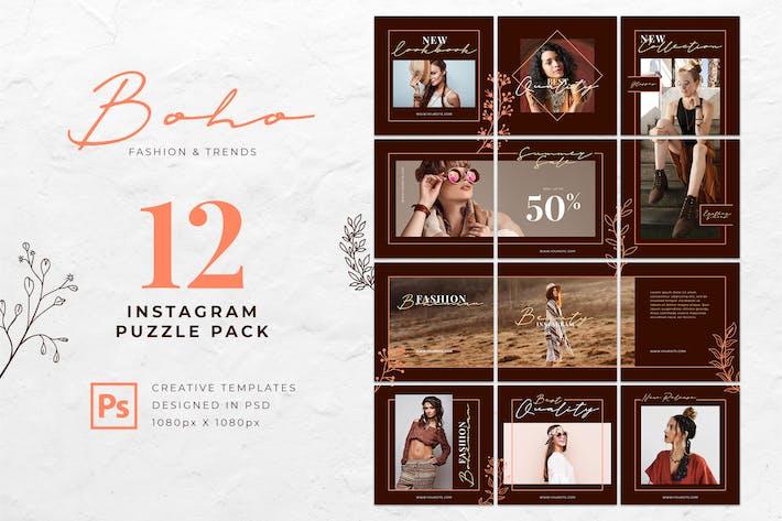 Thumbnail for Instagram Puzzle Boho Fashion