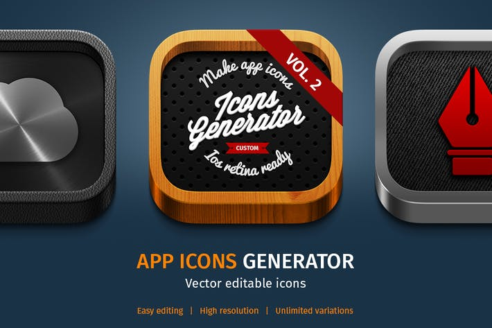 Thumbnail for App Icons Generator vol. 2
