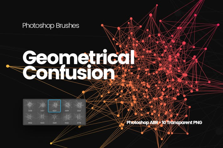 Thumbnail for Geometrical Confusion Photoshop Brushes