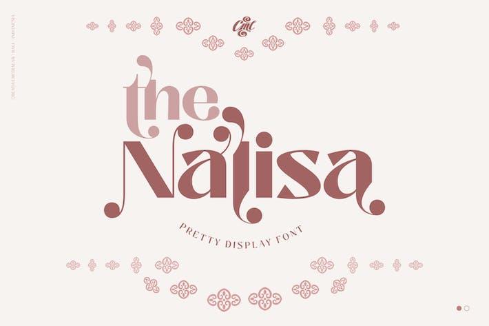 Nalisa Font - Fuente Beauty Display
