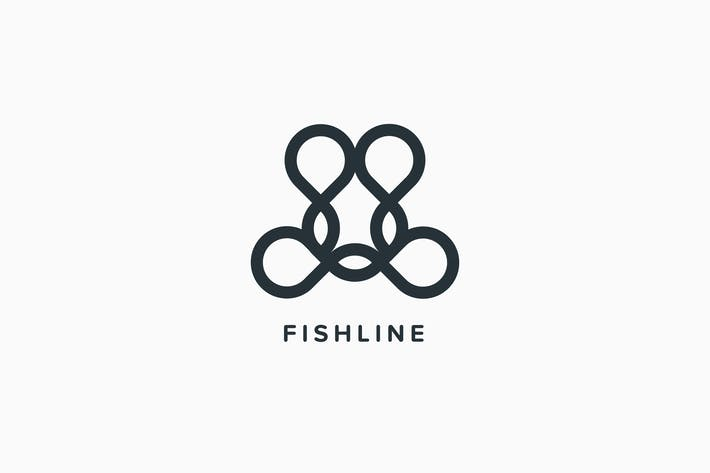 Thumbnail for Fish Line Logo Template