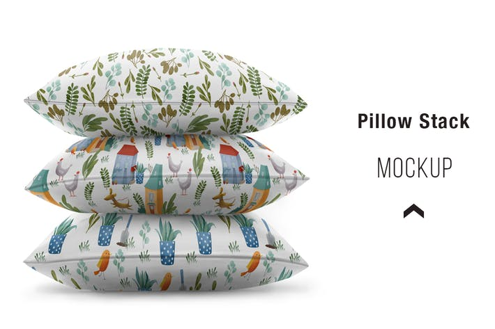 Cover Image For Pillow stack Mockup