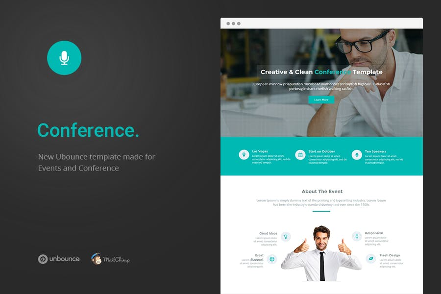 Conference - Unbounce Landing Page