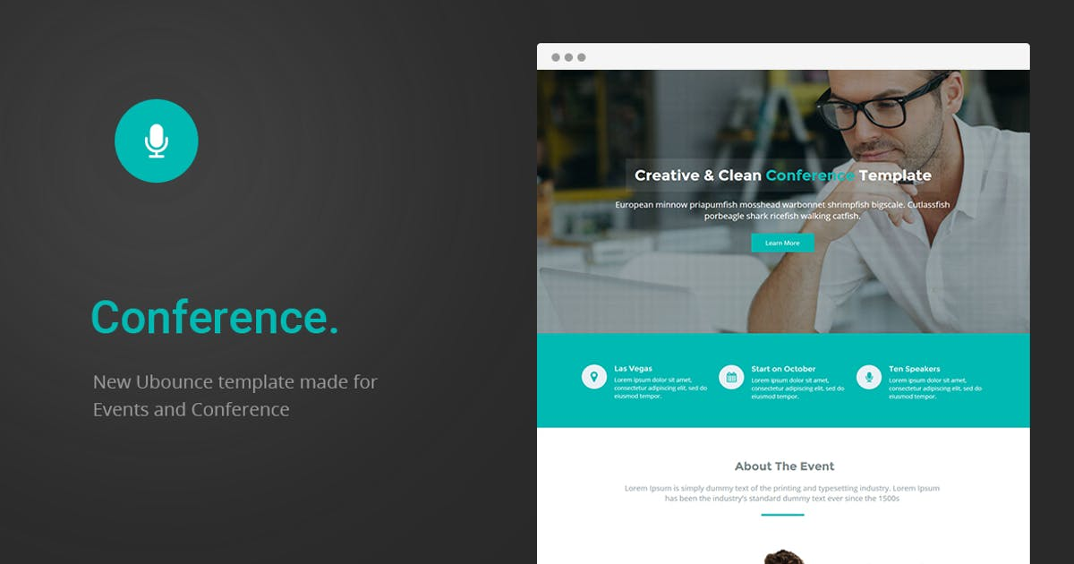 Download Conference - Unbounce Landing Page by ExplicitConcepts