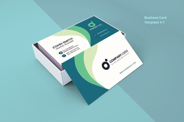 Thumbnail for Business Card Template V-1