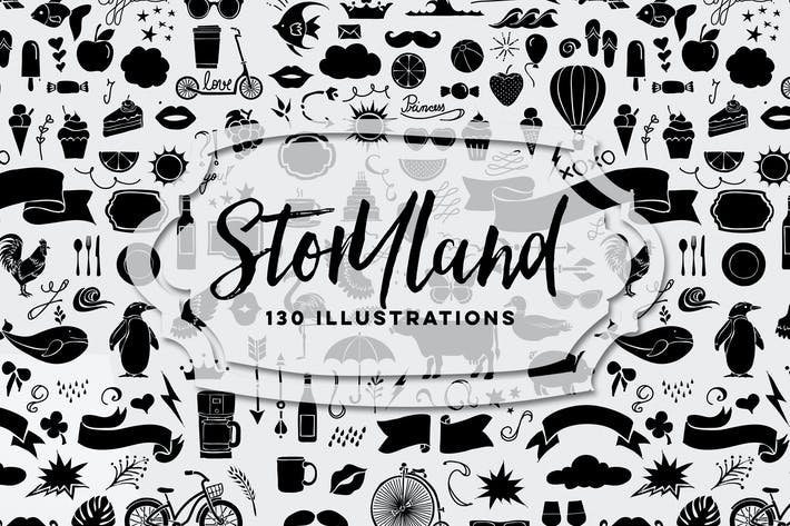 Thumbnail for 130 Storyland Illustrations