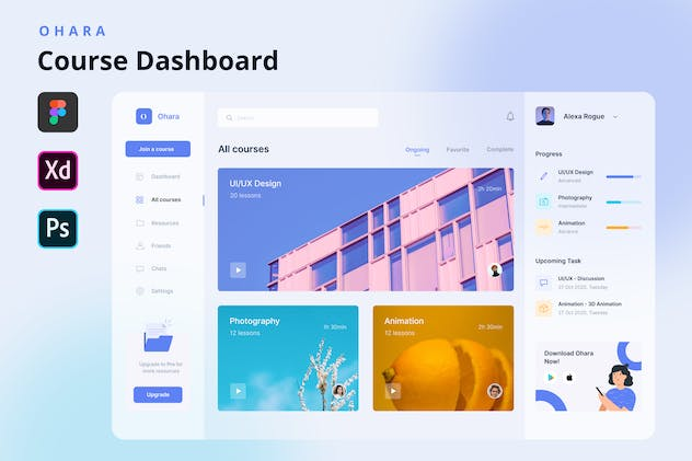 OHARA - Online Course Dashboard