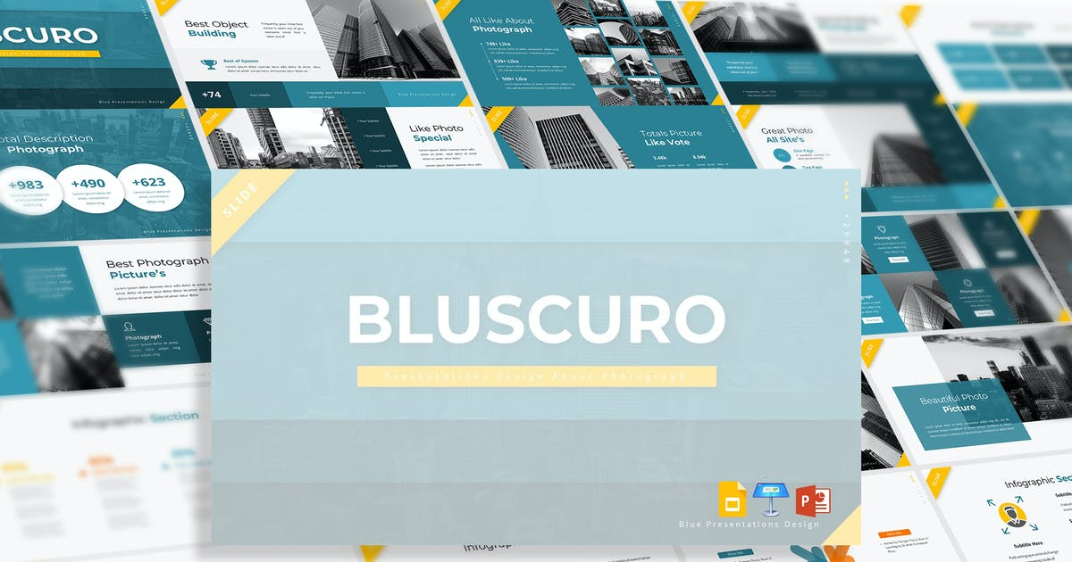 Download Bluscuro - Presentation Template by aqrstudio