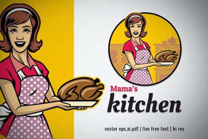 Logo vintage femme cuisine