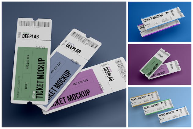 Event Ticket Mockup Set - product preview 7