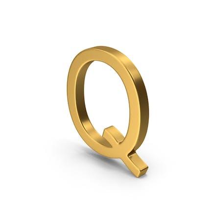 Q Letter Gold