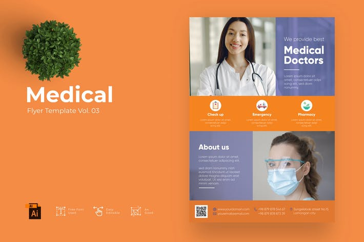 Medical Flyer Design Template Vol. 03