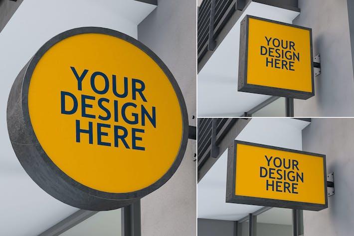Thumbnail for Sign Board - Mockups Set FH