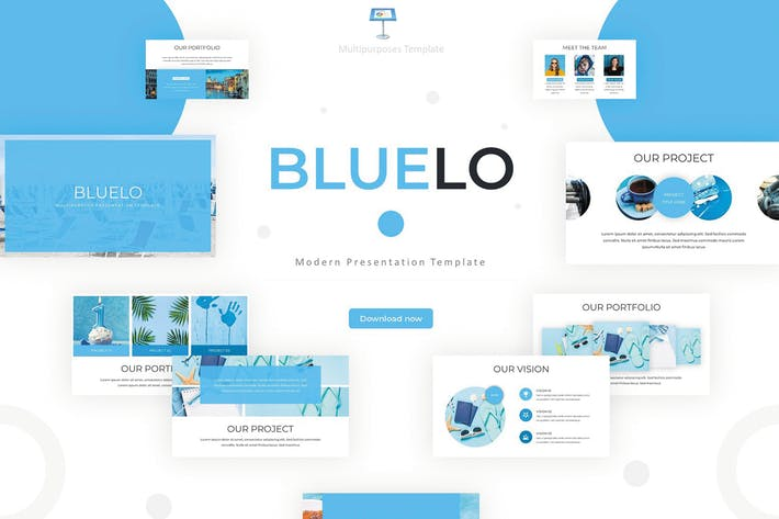 Thumbnail for Bluelo - Keynote Template