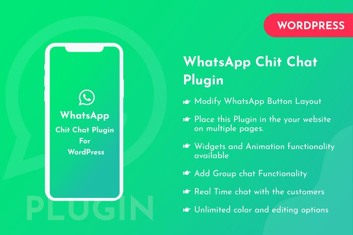 Thumbnail for WhatsApp Chit Chat Plugin For WordPress