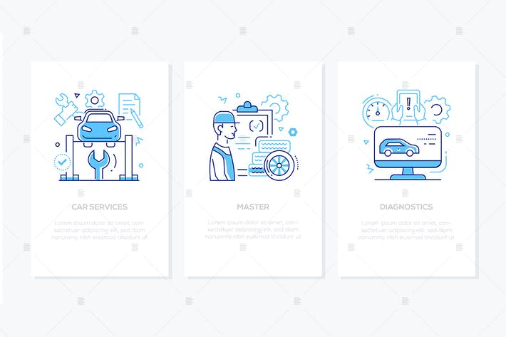 Thumbnail for Vehicle repair and maintenance - line banners