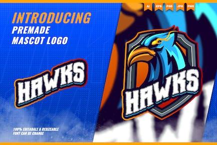 Phoenix Hawk Eagle - Mascot Esport Logo Template
