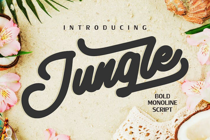 Thumbnail for Jungle | Monoline Bold Script