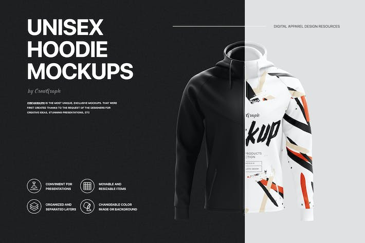 Thumbnail for Hoodies Mockup