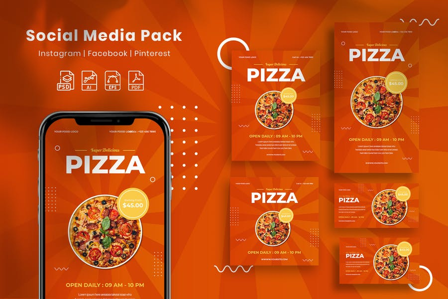 Pizza - Social Media Pack
