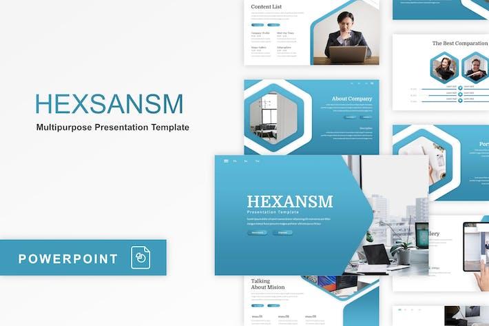 Thumbnail for Hexsansm - Modelo multiuso PowerPoint