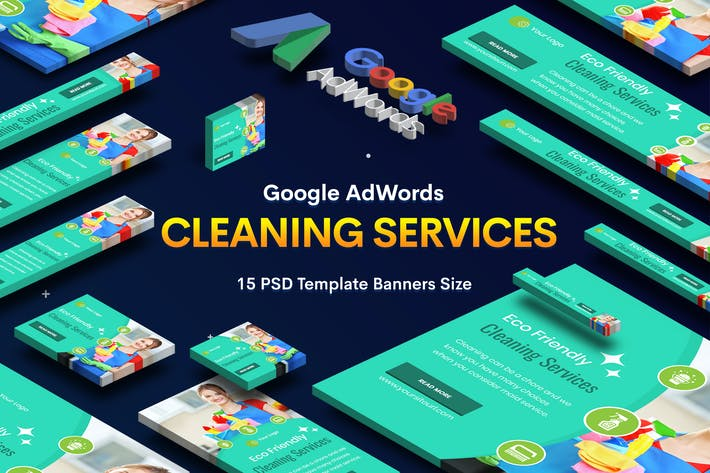 Thumbnail for Cleaning Services Banners Ad